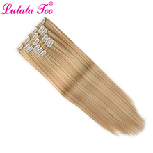 Clip in On Hair Extensions 6Pcs/Set 16 Clips Long Full Head Hair