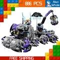 886 шт. Новые Рыцари 14031 Jestro Штаб-Квартирой 3D DIY Модель Строительные Блоки Boys Toys Nexus Совместимо с Lego