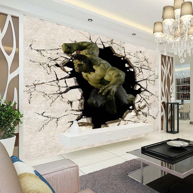 14 85 40 De Reduction Avengers Garcons Chambre Photo Papier Peint 3d Hulk Murale Papier Peint Design Home Decor Enfants Chambre Canape Tv Fond Mur