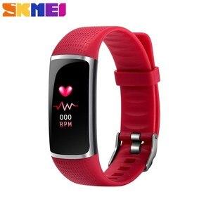 Image 1 - SKMEI inteligentna bransoletka sport tracker fitness 24 godzin monitor pracy serca, IP67 głębokie wodoodporna Super długi czas czuwania Smartband B32