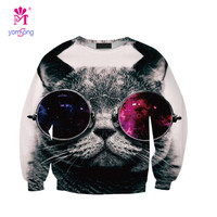 European And American Models Of Digital Printing Glasses Burst Cat Hedging Sweater Wholesale Sws0207