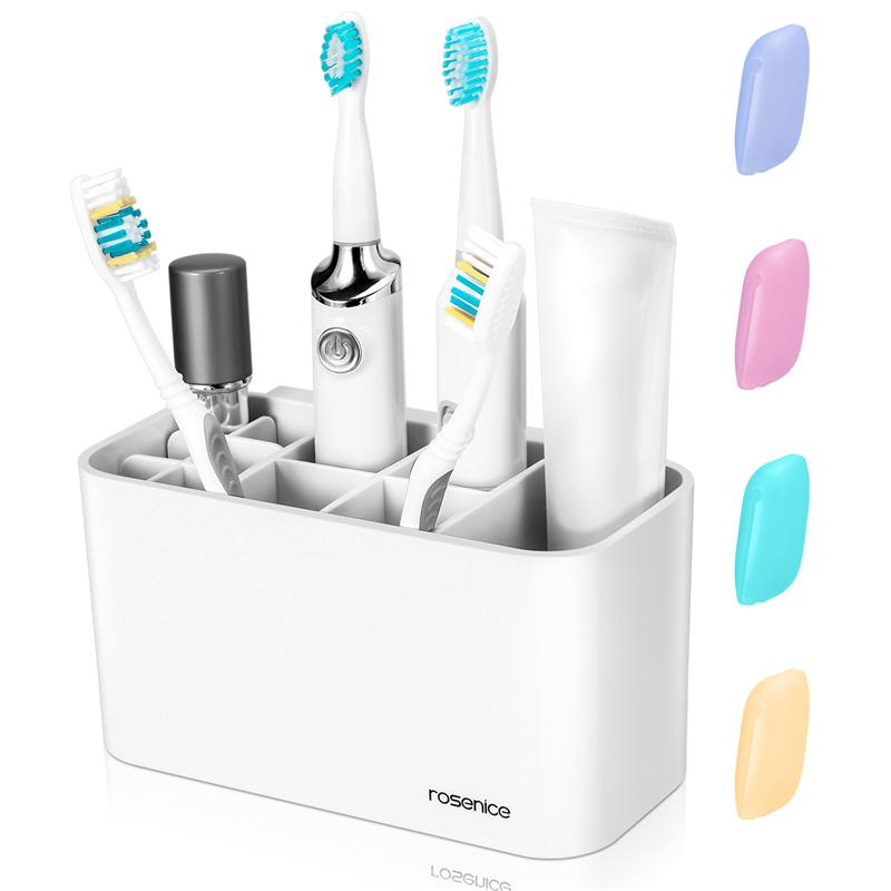 ROSENICE Toothbrush Holder Toothpaste Simple Organizer For Electric Toothbrush Toothpaste Comb Razor Bathroom Accessories in Toothbrush Toothpaste Holders from Home Garden