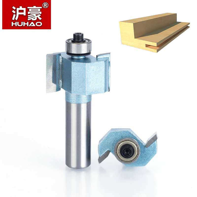 HUHAO 1pc 1/2 1/4 inch T Type Bearings Wood Milling Cutter Industrial Grade Rabbeting Bit Woodworking Tool Router Bits For Wood 1 2 5 8 round nose bit for wood slotting milling cutters woodworking router bits
