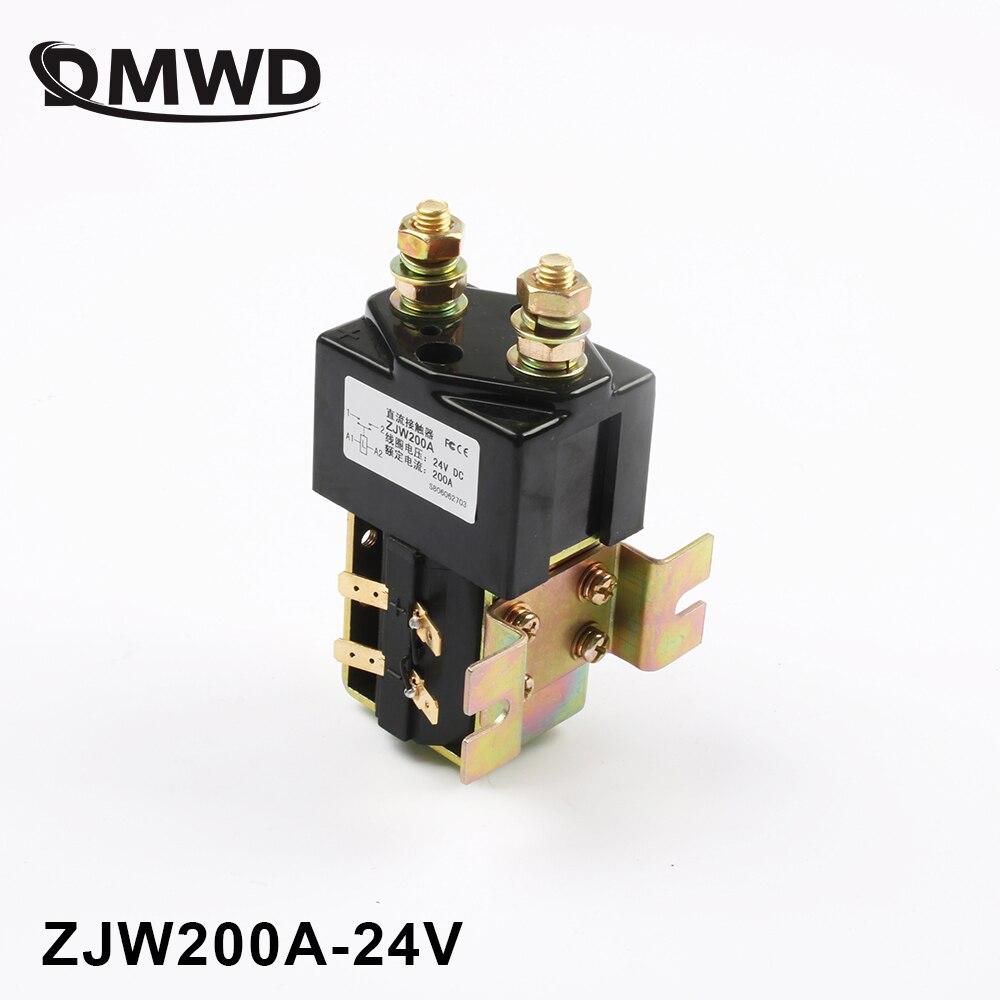 SW180 NO (normalement ouvert) style 12 v 24 v 36 v 48 v 60 v 72 v 200A DC Contacteur ZJW200A pour la manutention des chariots élévateurs wehicle treuil de voiture