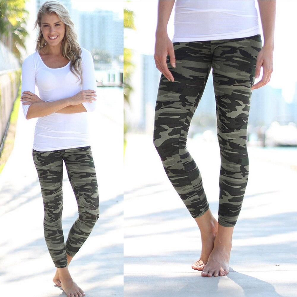 2017 Mode Dames Camouflage Print Leggings Broek Leger Broek Stretch Leggings Voor Meisjes Graffiti Style Gratis Drop