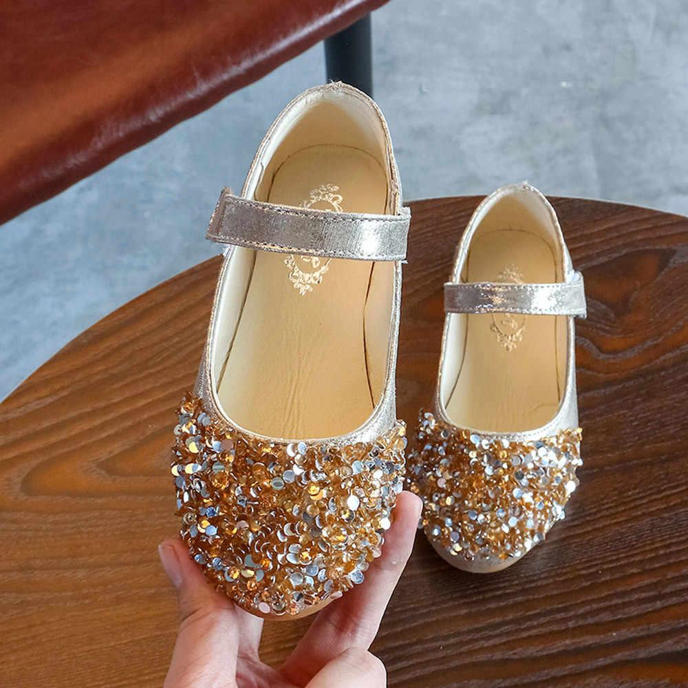 Children s autumn rhinestones small shoes sequins princess shoes girls  princess shoes single shoes three colors optional 603851314b0b