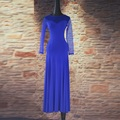 4 цветов Новый Стандарт Бального Танца Платье Женщины С Длинным Рукавом Вальс/Танго/Джазовый Танец Платье Черный/фиолетовый/синий/Производительность Практика