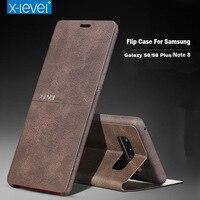 X Level S9 Plus Flip Case For Galaxy S8 S8 Plus S9 S9 Plus Leather Full