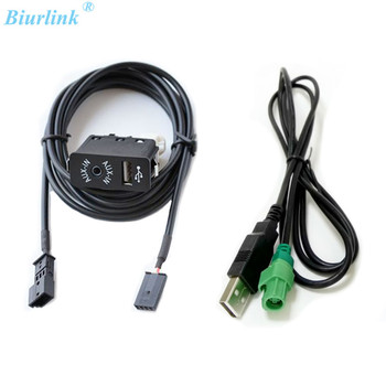 Biurlink USB/AUX Port AUX-IN USB Audio Adapter 3Pin Rear Connector For BMW E39 E46 E53 X5 Professional 16:9 Navigation image