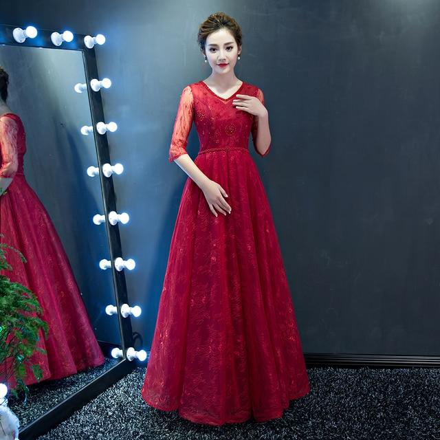 c6163fab325e8 النساء اللباس عنابي السهرة الطويلة الدانتيل ثوب حفلة موسيقية البحرية  الزرقاء vestidos اللباس الرسمي اللؤلؤ الأسود