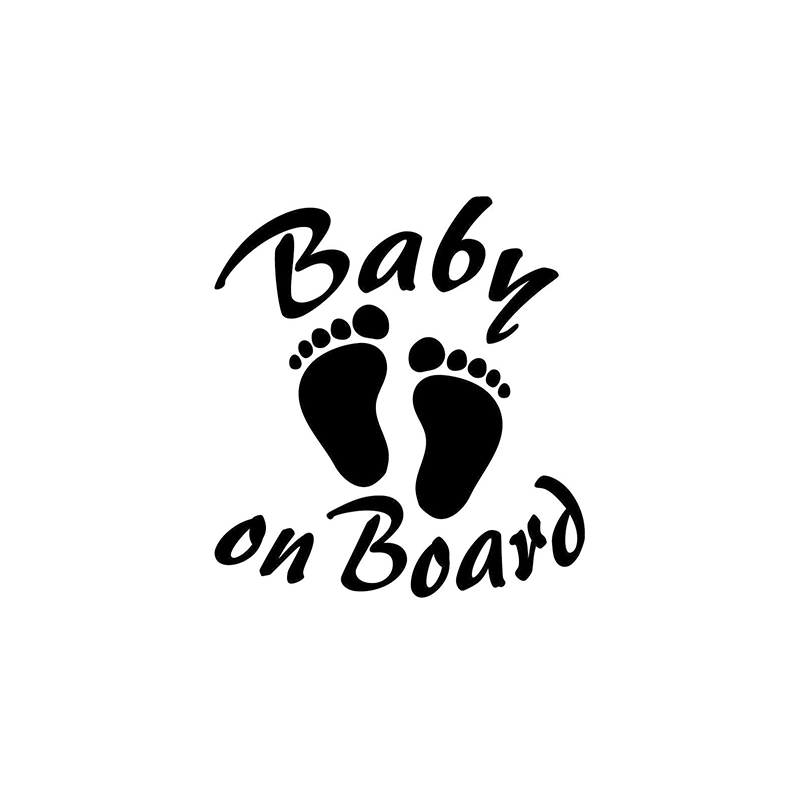 HotMeiNi Baby On Board Decal Sticker Home Bike Car Not Packaged The Whole Body Oem Cartoon Car Sticker