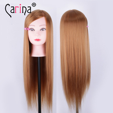 Natural Animal Fiber Hair Mannequin Head Dummy Hairdresser Professional Styling Wig