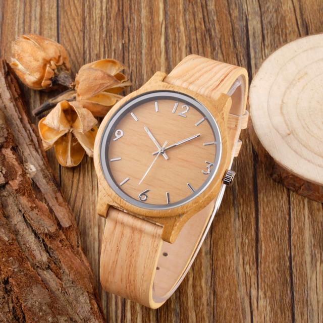 Venda quente Da Moda Relógios Com Pulseira De Couro De Madeira De Bambu De Madeira Relógios de Luxo Para Homens Mulheres Melhores Presentes Item relogio