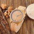 Venta caliente de La Manera Relojes Con Banda de Cuero de Lujo De Madera de Bambú de Madera Relojes Para Hombres Mujeres Mejor Artículo Regalos relogio