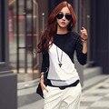 Blusa сорочка femme зима женщины топы и блузки 2016 новый мода футболка с длинным рукавом женская блузка женская одежда camisas blusas y mujer