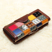 Female Wallet Women's Patchwork Purse Designer Credit Card Holder Femme Clutches Carteras Mujer