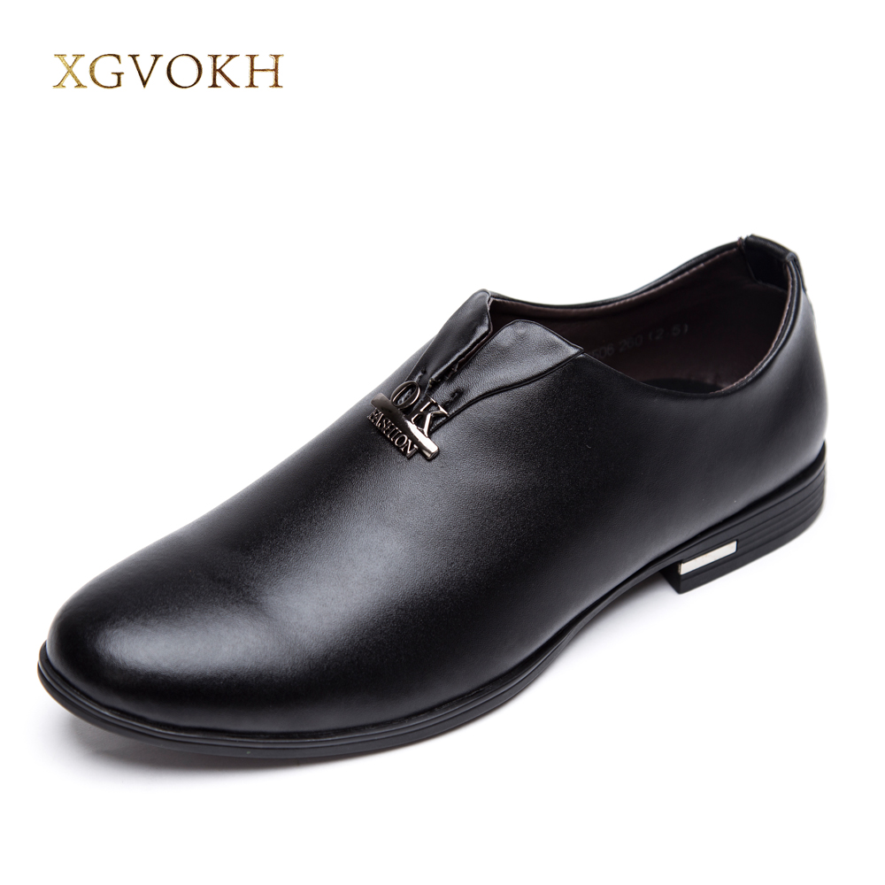 mens dress shoes Leather casual shoes for men slip on Fashion Wedding Shoes Breathable Business Flats Men Oxfords цена 2016