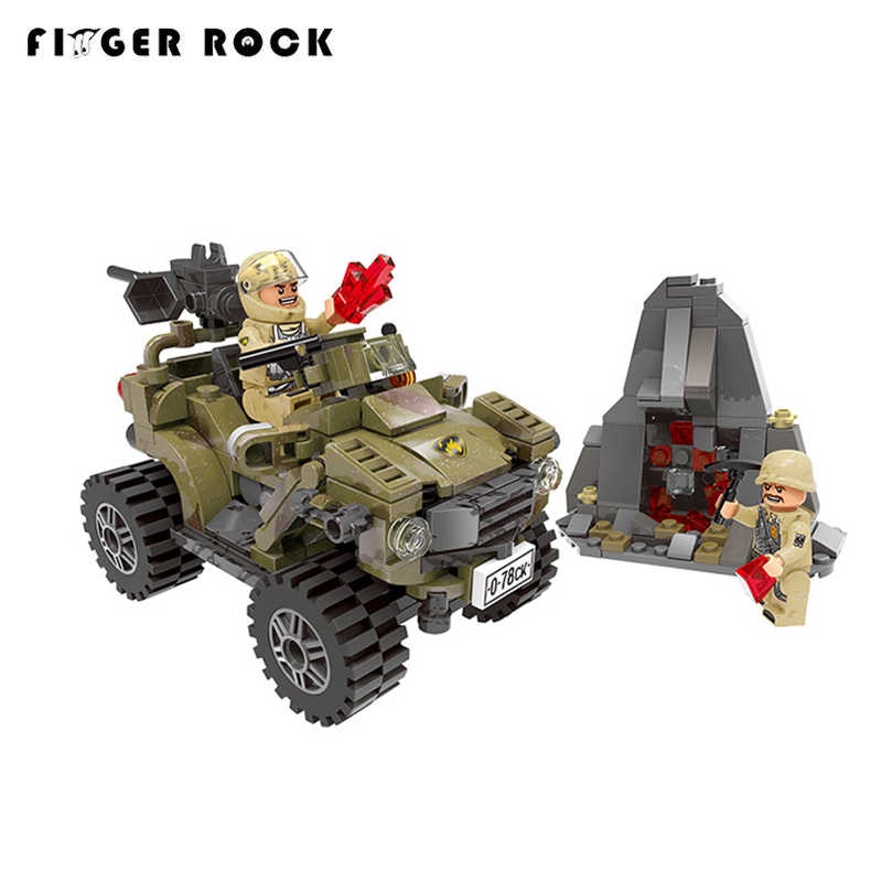 Blocks Xingbao 06010 347pcs Genuine Military Series The Oprah Sand Car Set Model Building Blocks Bricks Techine Toys Childrens Gift