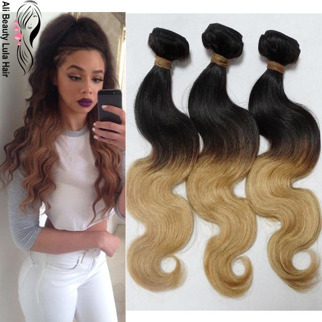 Brazilian Ombre Hair 8a Grade Brazilian Virgin Hair Body Wave T1b27
