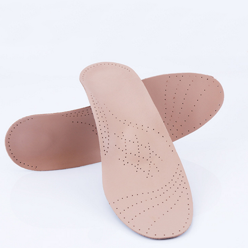 Genuine Leather Orthopedic Insoles Flat Foot Arch Support Orthotics Orthopedic Breathable High Arch Support Insoles