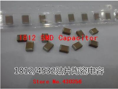 20PCS    Smd Capacitor 1812  105K  1UF    100V  Free Shipping
