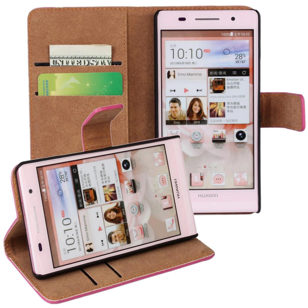 HOT Huawei P6 Wallet Leather Case For Huawei Ascend P6 Magnetic Flip Case Cover Card Holder