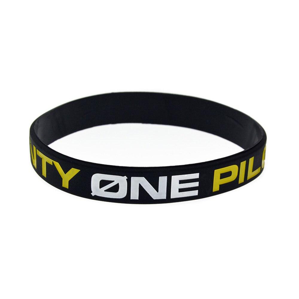 OneBandaHouse 1 шт. Twenty One Pilots Силиконовый браслет черный Мода Музыка браслет