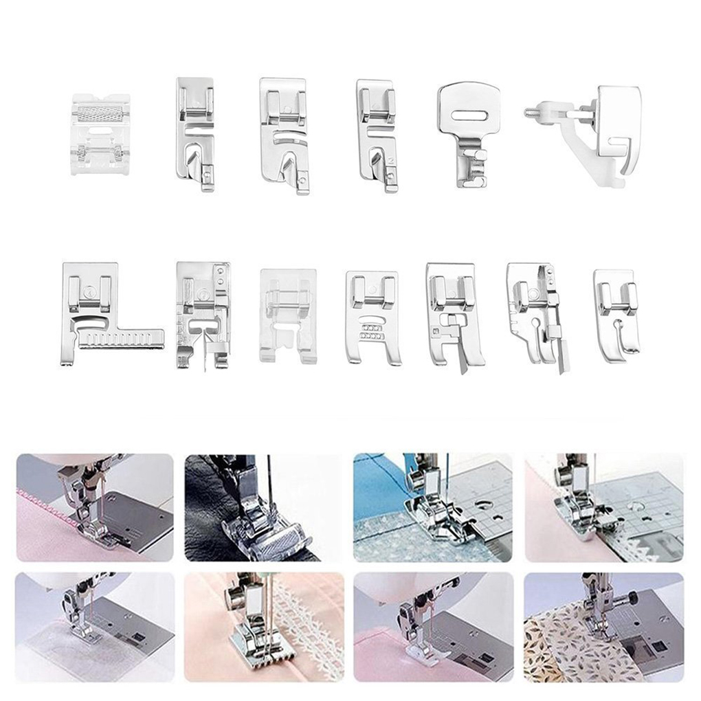 2018 nuevo 42 unids/set costura Crochet Presser Foot Kit costura ...