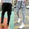 2016 Black Grey Drop Crotch Pants Men Harem Pants Hip Hop long Pants Hip Hop Pants Men, Mens Joggers Masculina Man Trousers