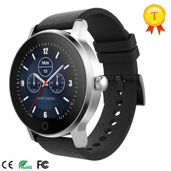 Smartwatch Round Touch Screen Bluetooth Waterproof Wristwatch Phone Two Way Talk Heart Rate Monitor Android IOS Business People