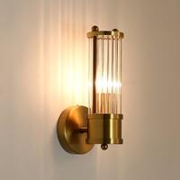 Lustre Crystal Wall Lamp Bronze Bedroom Led Wall Lights Fixtures Living Room Wall Light Corridor Wall Sconce