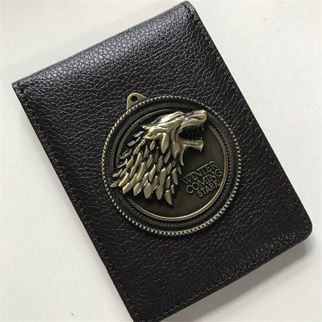 Stark Metal Badge Leather Wallet 1