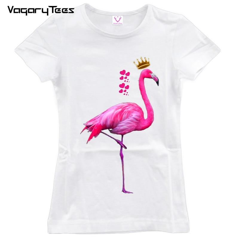 2018 New Aesthetic Summer Tshirt Pink Flamingo Cute T-shirt Vogue Tee Shirt Women Ulzzang Kawaii Womens Tops