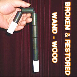 Broken and Restored Wand (Wood) - magic trick, 2014 new fire magic