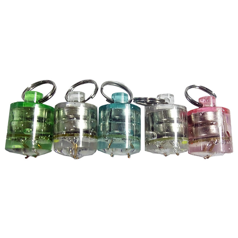 5Pcs/Set Water Activated Deep Drop Submersible Dive Light Flashing Lures Bait Fishing Light 1000m A3