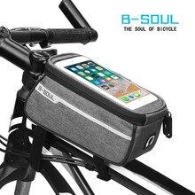 Высококачественная велосипедная сумка водонепроницаемый Сенсорный экран велосипедный бампер для мобильного телефона сумка держатель велосипедная сумка Аксессуары для велосипеда