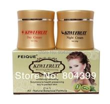 wholesale kiwi fruit whitening anti freckle natural botanical formula day cream+ningt cream 60sets/lot