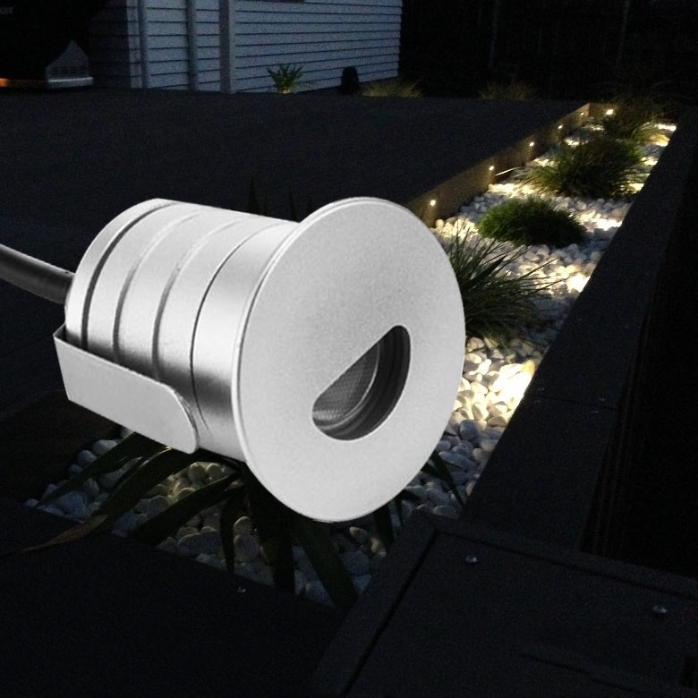 Led Wall Corner Lamp 1W LED Recessed Step Stair Light Waterproof Basement Porch Pathway Bulb Warm White 12V DHL Shipping image