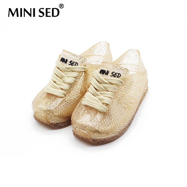 MINISED With Shoelaces Sports Sandals Girls Jelly Children Shoes Jelly  Sandals For Girls Breathable 14cm-16.5cm Beach Sandals d3ebfab97