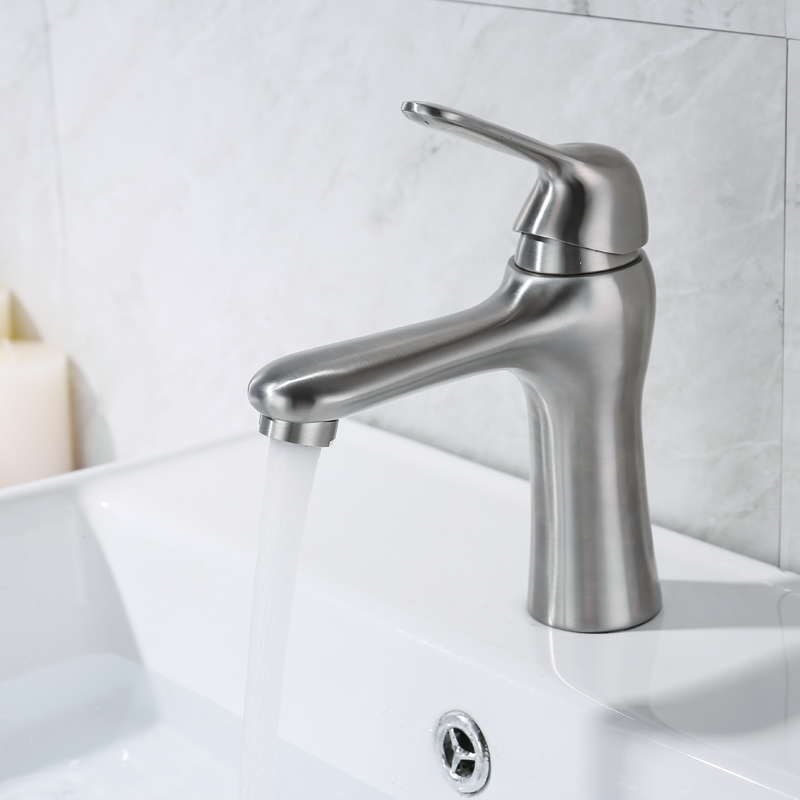 IVRICH Unique Design Basin Faucet Stainless SUS304 Precision Casting Ceramic Cartridge Tap Lavatory Toilet Mixer VR2048