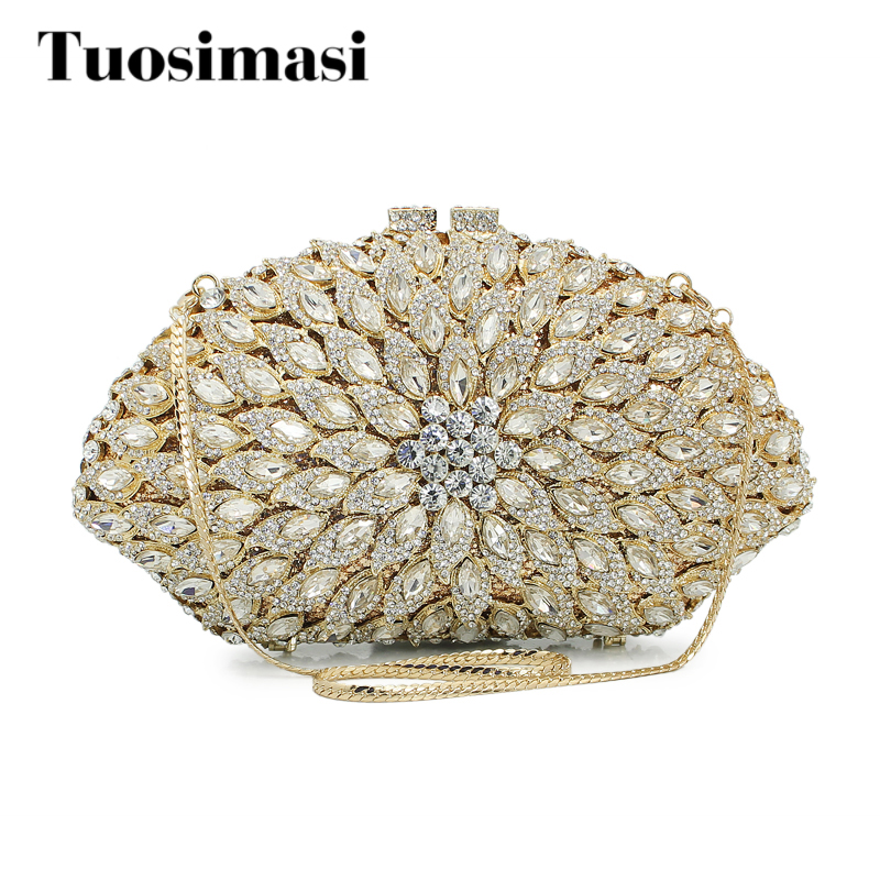 Fashion Crystal Clutches Evening Bags Women Party Purse Luxury Clutch Bag Ladies Wedding gold Chain HandBag(88187A-B) women gold clutch evening party bag chain ladies clutches bags ladies evening shoulder bag wedding female crystal clutch purse