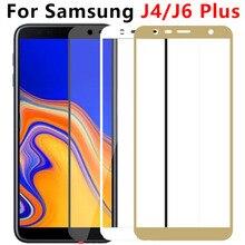 Protector de cristal templado para pantalla de móvil, película protectora para Samsung Galaxy J4 J6 Plus 2018, J4Plus J6Plus J 4 6 J4 + J6