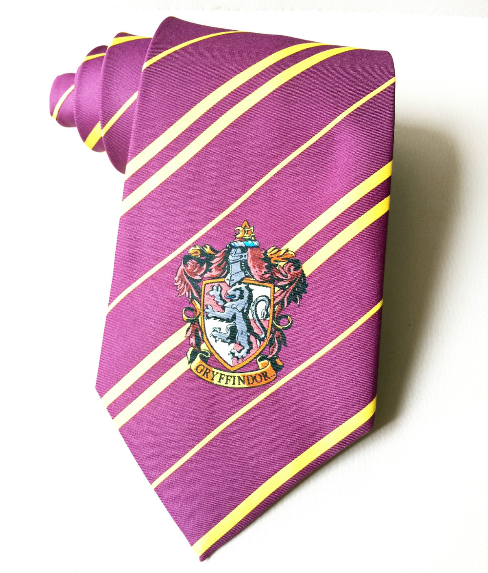 Magic College Ties for Men Luxury Student Necktie Designer <font><b>Logo</b></font> American School Male Tie Wine <font><b>Red</b></font> Gold Free Shipping