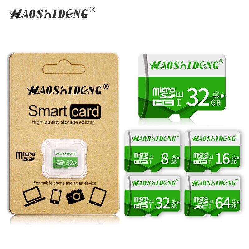 100% реальные Ёмкость Micro SD Card 4 ГБ 8 ГБ 16 ГБ 32 ГБ 64 ГБ 128 ГБ высокая скорость class 10 мини SD карты памяти SD карты флэш TF карты