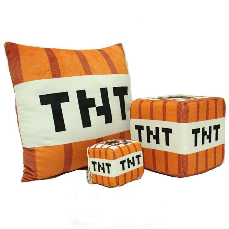 Hot Minecraft TNT Plush Pillow 10cm/20cm/40cm Minecraft Toys TNT Pillow Children Toys Birthday Gift