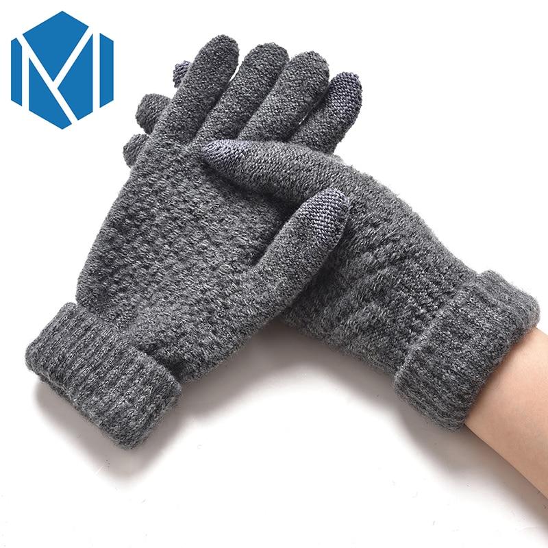 Fashion Knitted Winter Gloves Autumn Winter Unisex Thicken Thermal Warm Mittens