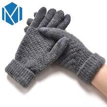 Miya Mona Unisex Thicken Winter Gloves Men Women Knitted Flu