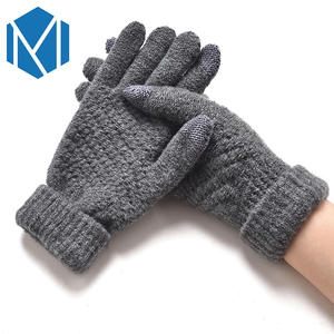 Miya Mona Unisex Thicken Winter Gloves Men Women Knitted Fluff Wrist Mittens Warm Wool Cashmere Gloves Screen Sense Guantes Luva