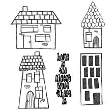 AZSG Small House Clear Stamps For DIY Scrapbooking Rubber Stamp/ Seal Paper Craft Stamp Card Making