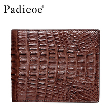 PADIEOE Luxury real crocodile skin wallet men high quality business men's short wallets fashion barnd genuine leather wallet